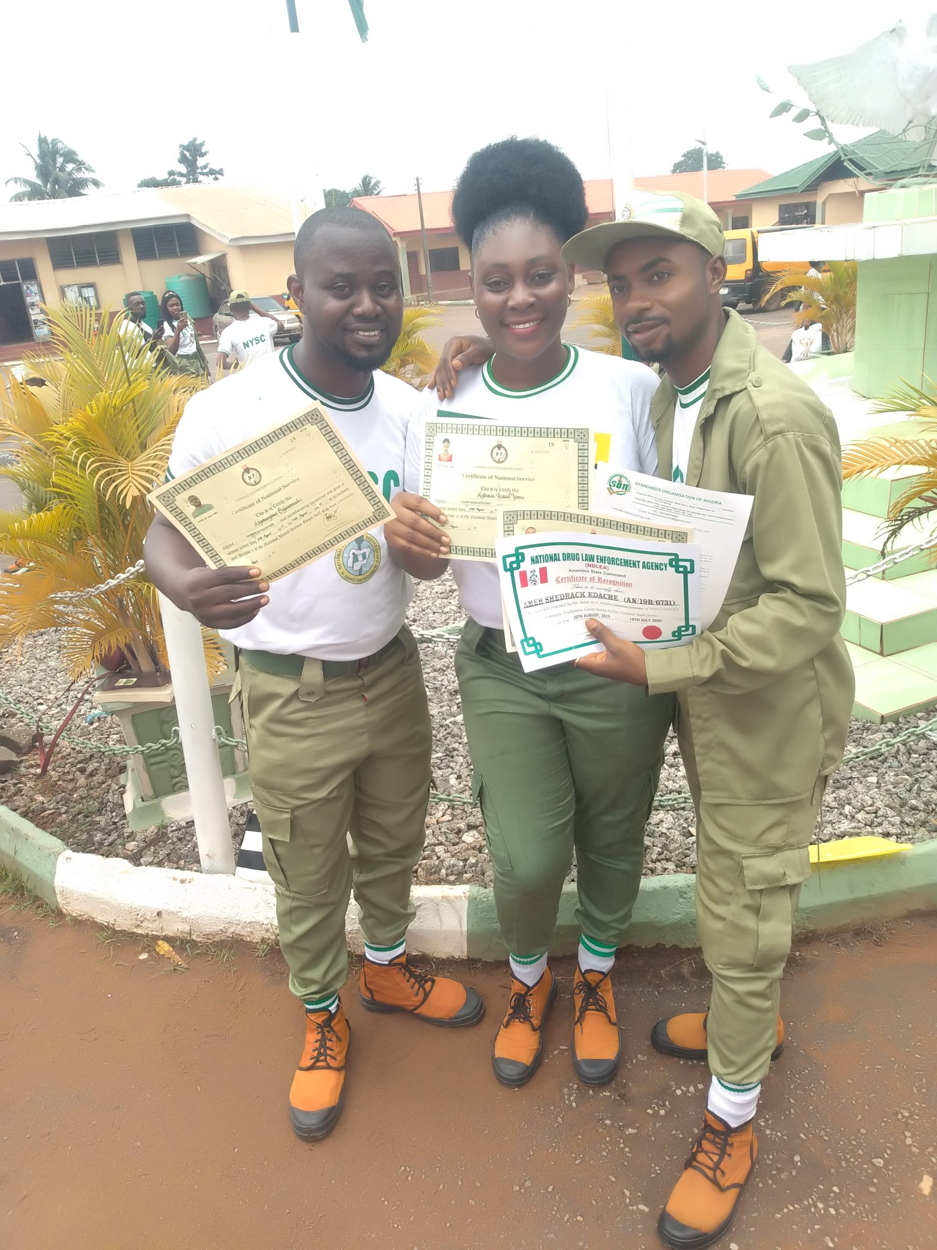 Lagmen net official Congratulated Marvelous, Akpomeyoma,ijeoma ,Shedrach   and others  NYSC members pass out under strict COVID-19 observance