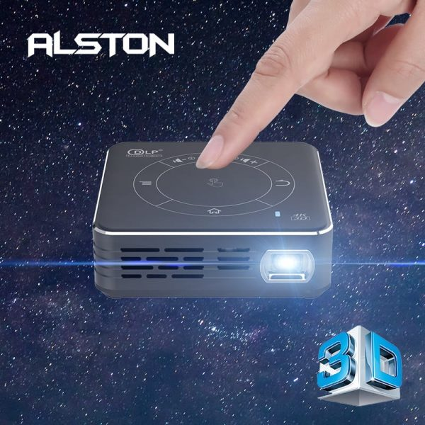 ALSTON C99 Mini DLP Android Projector WiFi Bluetooth 5.0 Portable LED Video Projector Home Cinema Support Miracast Airplay