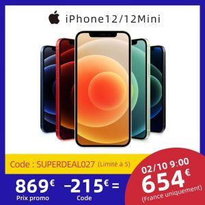 "Authentic Original Brand New iPhone 12/12 Mini 5G 6.7/5.4"" XDR Display 12MP Dual Camera A14 Bionic IOS 14 Smartphone Bluetooth"