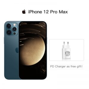 "Authentic Original Brand New iPhone 12 Pro Max 5G 6.7"" XDR Display A14 Chip 12MP Triple Rear Camera IOS 14 Smartphone Waterproof"