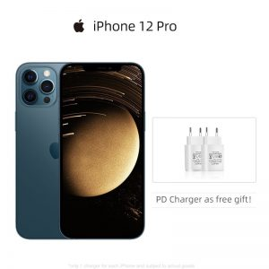 "Authentic Original New Apple iPhone 12 Pro 5G 6.1"" XDR Display 12MP Triple Camera Face ID IOS 14 Smartphone"