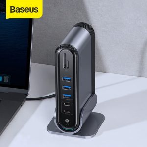 Baseus USB C HUB Type C to Multi HDMI-compatible USB 3.0 with Power Adapter Docking Station for MacBook Pro RJ45 OTG USB HUB