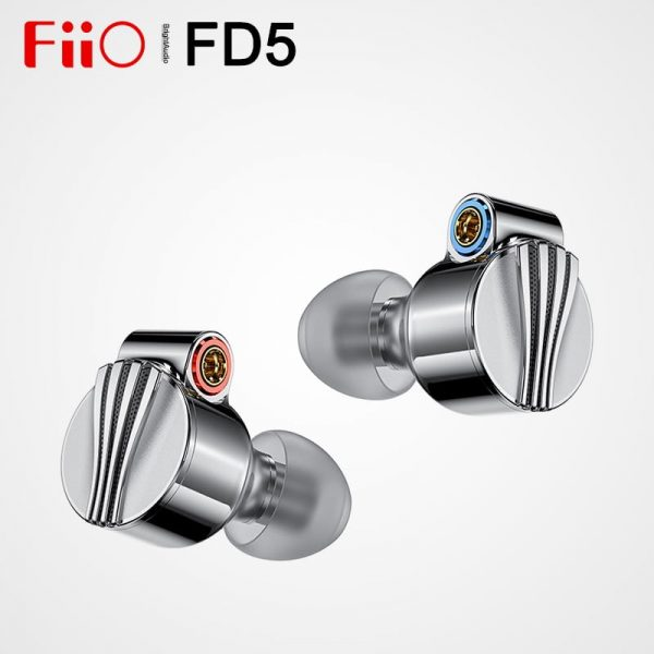 Fiio FD5 Beryllium Coated Dynamic In-ear Monitors Earphone with 2.5/3.5/4.4mm Interchangeable Sound Tubes and MMCX Audio Jack