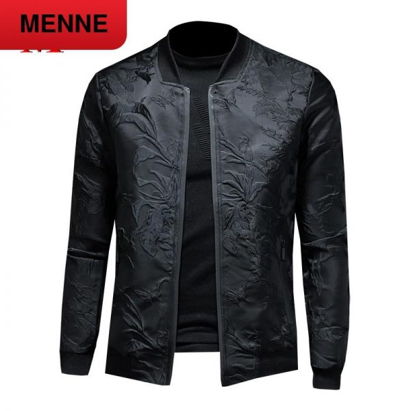 MENNE 2020 New men jacket embroidery jacket men zipper coat