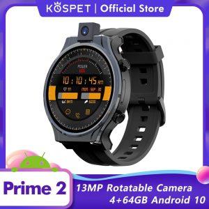 Original KOSPET PRIME 2 Smart Watch Men Android 10 Phone Smart Clock 4GB 64GB 13MP Camera GPS Smartwatch 2020 New For Xiaomi