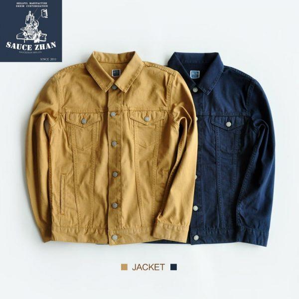SauceZhan VINTAGE Vintage Jacket Work Canvas Jacket Vintage May Khaki Seiko Virgin Pulp Re - Engraving Jackets Men Jacket
